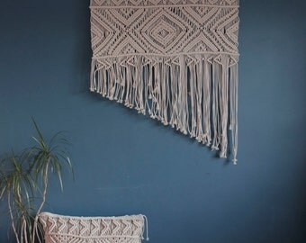 Large macrame wall hanging, boho bedroom decor, macrame wall art, textile tapestry, ethnic pattern, boho home decor The New Angle