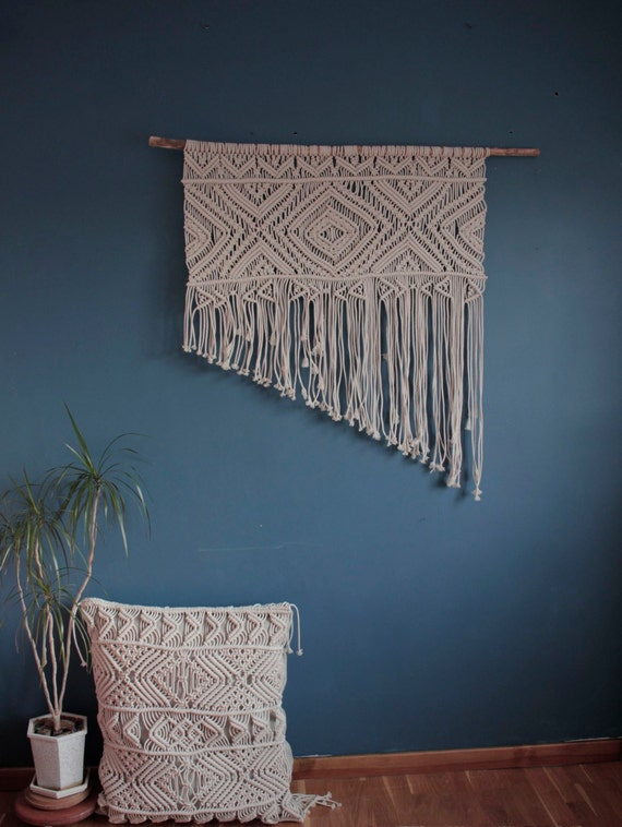 large macrame wall hanging bedroom nursery decor boho items similar to large macrame wall hanging boho bedroom