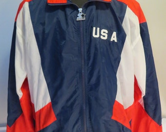 Team USA Jacket (VTG) - 1996 Summer Olympic Games by Starter - Men's Extra Large