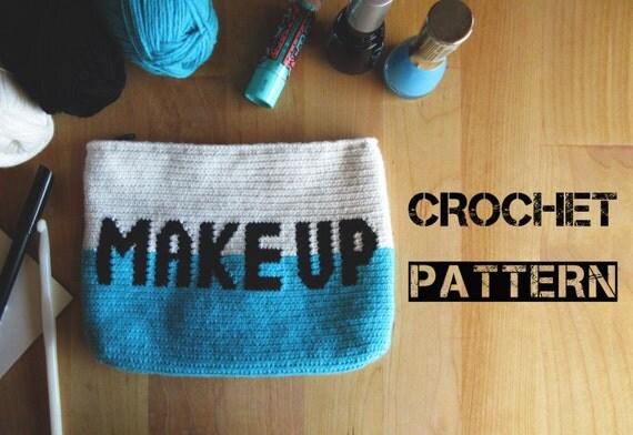 Crochet Toiletry Bag Pattern : Make up Crochet Bag Pattern /Crochet Cosmetic Pouch ...