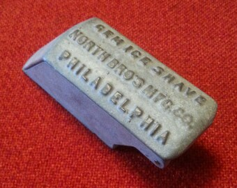 Vintage Gem Ice Shave North Bro's MFG Co. Philadelphia Ice Sculptors Tool
