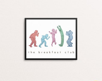 The Breakfast Club Dance Illustration / 80s Movie Art Print
