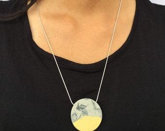 Porcelain marble effect pendant