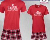 Couples Pajamas Happily M...