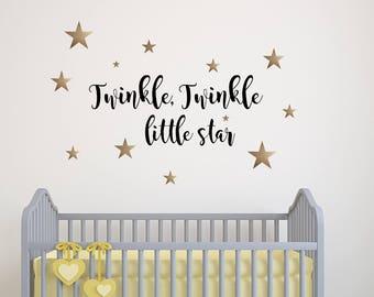 Twinkle, Twinkle Little Star Vinyl Wall Decal