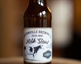 Customized Beer Label - Milk Stout, Farmhouse Ale, Saison, Stout, home-brew - Vintage Design Custom Homebrew Label for home made Craft Beer
