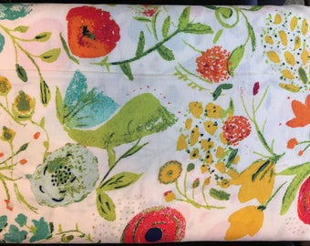 ART GALLERY FABRIC Budquette Abloom in Rayon designed by Bari J. R-405. Choose your cut.Apparel dress fabric.