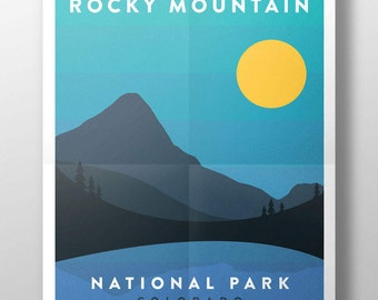 Rocky Mountain National Park Digital Print Download