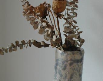 Sky Blue Splatter Vase Flowers Ceramic
