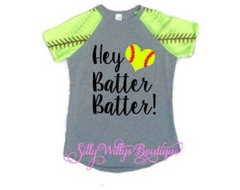 Hey Batter Batter shirt, Softball mom shirt, Softball shirt,
