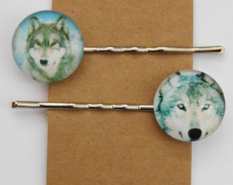 Wolf Hair Clips/ Bobby Pins, set D.