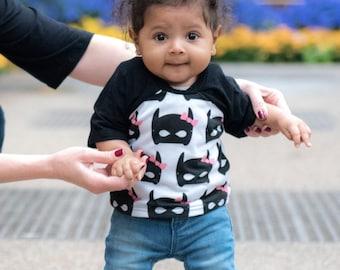 batgirl baby shirt, batgirl toddler shirt, batgirl children's tee, girl superhero shirt, trendy baby clothes, trendy kids clothes, batgirl