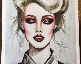 1985 Limited Edition Fashion Illustration Fine Art Print