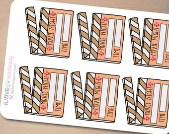 Movie Planner Stickers perferct for Erin Condren, Kikki K, Filofax and all other Planners