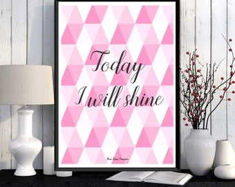Poster scandinavian art print, Wall art decor, Inspirational quote, Poster quote, Graphic pattern, Motivational print, Typography quote