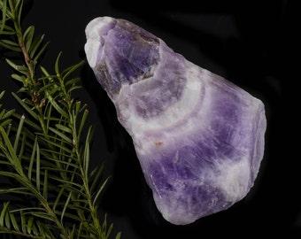 One Banded CHEVRON AMETHYST Raw Crystal - Raw Amethyst Crystal, Natural Amethyst, Natural Crystal, Healing Crystal, Healing Stone E0113