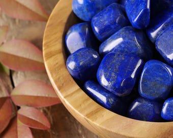 Two Dark Blue LAPIS LAZULI Stones - Lapis Stone, Polished Stones, Natural Lapis Lazuli, Pocket Stones, Healing Stone, Chakra Stone E0246