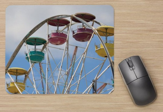 Ferris Wheel Mouse Pad - Carnival Mousepads - Computer Mat - Office Accessories - Office Decor - Desk Accessories - Office Gifts