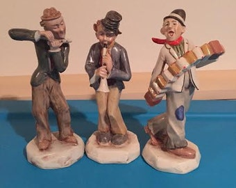 Vintage Porcelain Musician Figurines Made in Germany