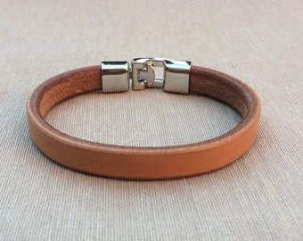 Leather Bracelet, leather bracelet, bracelet in natural / oiled, bracelet for men, Bangle