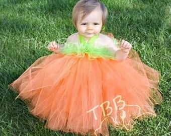 Pumpkin Costume, Pumpkin Tulle Dress, Pumpkin Tutu, Girl's Halloween Costume, First Halloween, Tulle Dress, Tutu Dress