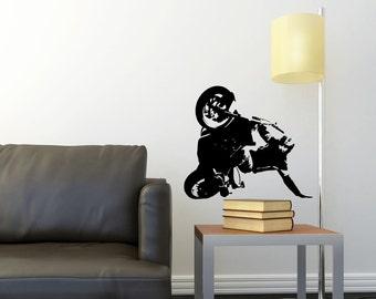 Wheeling Motorcycle- Free Style - Run- Streetbike - Vinyl Wall Decal
