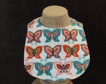 Flannel Bib Pearl Snap Fastener Butterflied Drool Bib Mealtime essentials Baby Shower gift Baby Gift Baby Layette