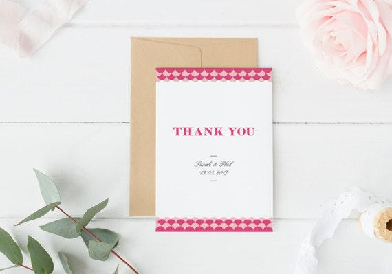 Wedding Thank You Wedding Thank You Card Wedding by PeachyPaperCo – Order Wedding Thank You Cards