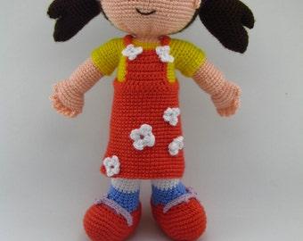 Amigurumi pattern doll (14 inc),niloya doll, crochet amigurumi doll,