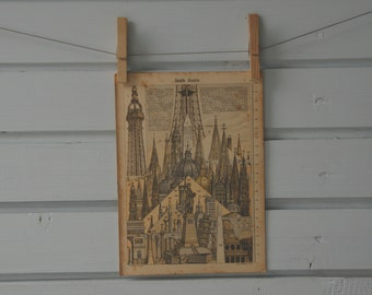 1895 Vintage Tallest Buildings Illustration
