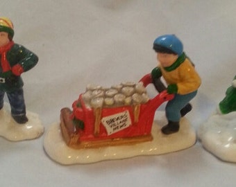 Vintage Department 56 Early Morning Delivery/The Original Snow Village/Mint in the box/Retired/Christmas Accessory