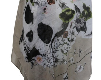 Skull Butterfly Shawl Wrap Light Weight Scarf
