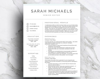 professional resume template for word pages cv template 1 2 3 page resume with cover letter a4 and us letter instant download