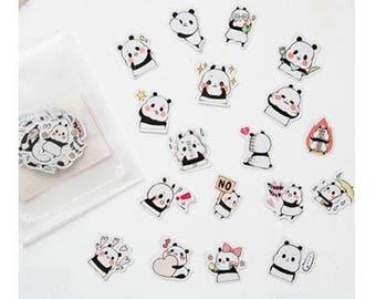 Stickers cute little pandas