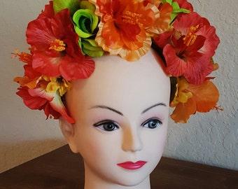 Day of the dead headpiece, dia de los muertos, floral crown. Halloween costume
