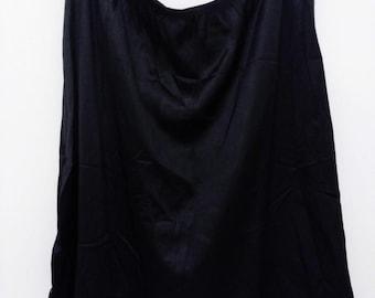 Vintage Black Slip, Vintage Half Slip, Vintage Lingerie, Nylon Slip, Vintage Nylon Slip