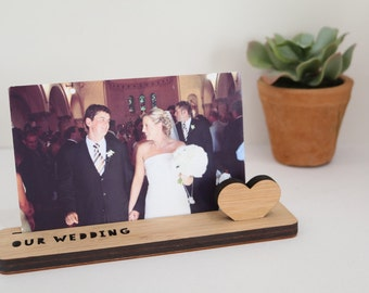 Photo Stand - Our Wedding. Photo holder.