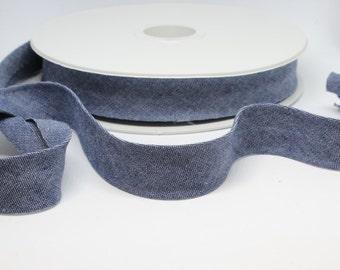 Denim Chambray Bias Binding- Soft 100% Cotton - 20mm Wide