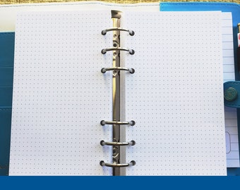 Personal Size Dot Grid Paper Planner Inserts