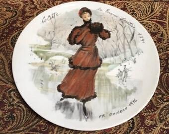 Colette la Femme Sportive- 1890 - Les Femmes du Siecle -1890 Collectible Plate by Fr. Ganeau,