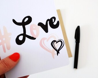 """Card to send to """"#LOVE"""". Illustrated and created by pretty Mess."""