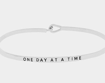 One Day at a time hook bracelet