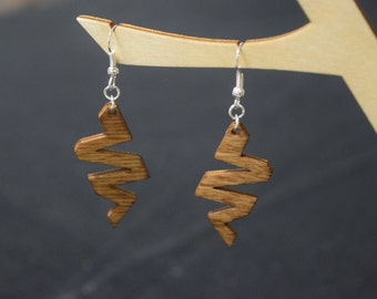 Zig-Zag - Laser Cut Wood Earrings