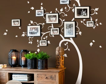 Family tree wall decal etsy - Arbre genealogique stickers ...