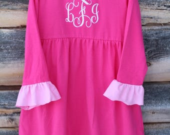 Two Pink Dress with Monogram
