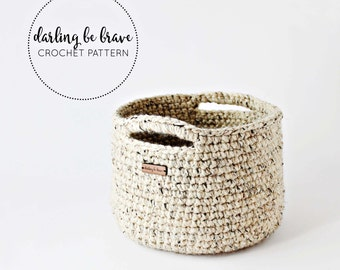 BASKET | adjustable basket pattern, crochet pattern and tutorial, chunky yarn crochet pattern, home decor, pdf file, instant download