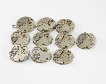 Rare Watch mechanical watch for cufflinks Watch Parts repurposed art steampunk earrings watch details mens jewelry industrial watch crowns