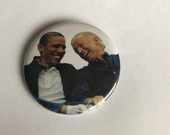 Obama and Joe Pinback Button