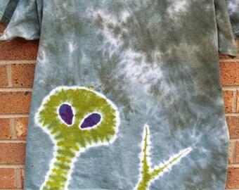 tie dye alien peace sage t-shirt