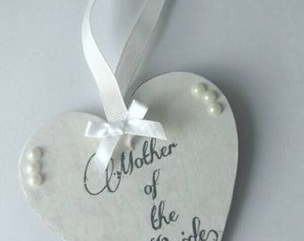 Mother of the Bride gift, mothers of the Bride keepsake gift, wedding party gift, hanging heart gift, hanging heart keepsake, pearls, heart